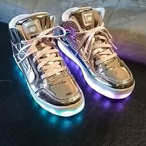 Skechers Energy Lights Rose Gold